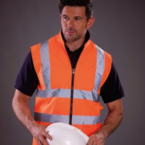 Hi-vis reversible fleece bodywarmer (HV008F) Thumbnail