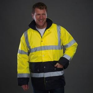 Hi-vis two-tone motorway jacket (HVP302) Thumbnail