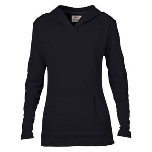 Anvil Ladies Crossneck Hooded Sweatshirt Thumbnail