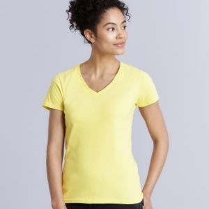 Gildan Ladies Premium Cotton® V Neck T-Shirt Thumbnail
