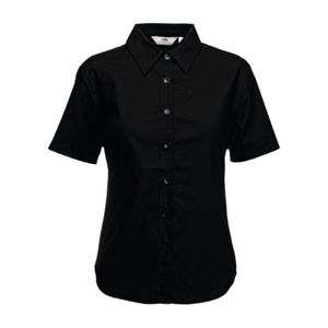 Fruit of the Loom Lady Fit Short Sleeve Oxford Shirt Thumbnail