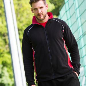 Finden and Hales Contrast Micro Fleece Jacket Thumbnail