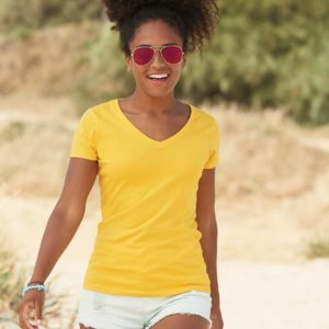 Fruit of the Loom Lady Fit Value V Neck T-Shirt Thumbnail