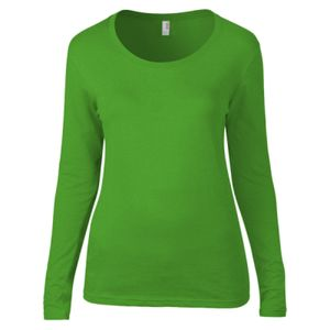 Anvil Ladies Featherweight Long Sleeve Scoop Neck T-Shirt Thumbnail