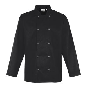 Premier Unisex Long Sleeve Stud Front Chef's Jacket Thumbnail