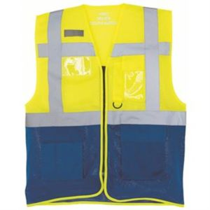 Hi-vis top cool open-mesh executive waistcoat (HVW820) Thumbnail