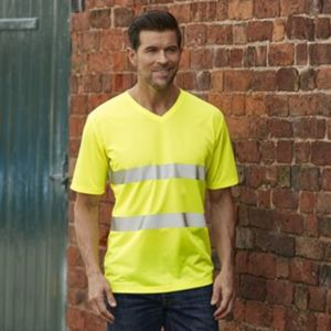 Hi-vis top cool super light v-neck t-shirt (HVJ910) Thumbnail