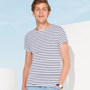 SOLS Miles Striped T-Shirt Thumbnail