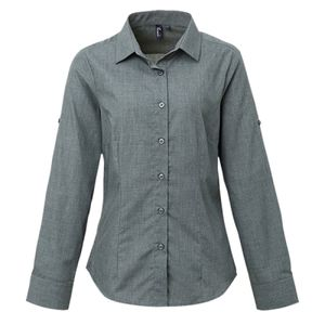 Premier Ladies Cross-Dye Roll Sleeve Shirt Thumbnail