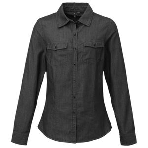 Premier Ladies Jeans Stitch Denim Shirt Thumbnail