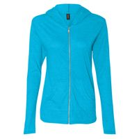 Anvil Ladies Tri-Blend Hooded Jacket Thumbnail